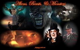 Aliens, Beasts, & Monsters