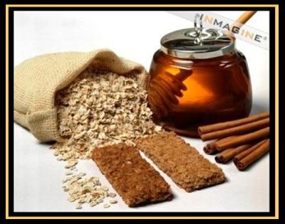 tea, honey, and cinnamon