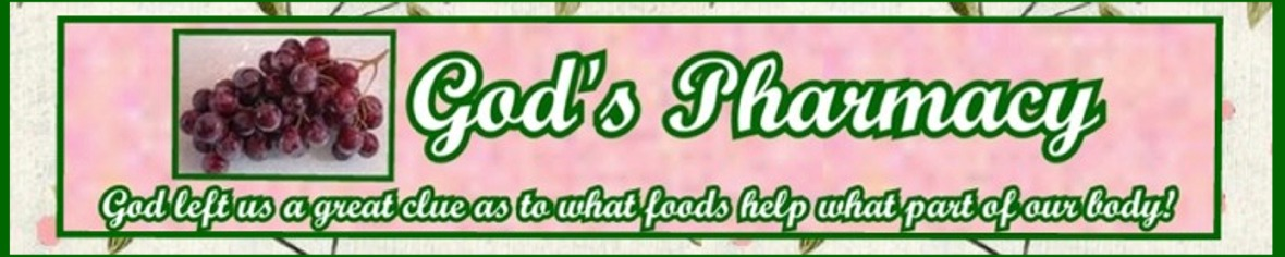 God's Pharmacy... God left us a great clue as to what foods help what part of our body!