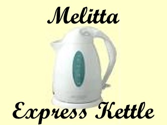 Melitta Express Kettle heats up a small batch of hot water in a very short time; stylish design and automatic shutoff feature.  Melitta Express Kettle is the Safest, Fastest Way to Heat Water