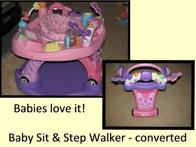 Visit Wal-Mart for the Baby Sit & Step: 2-in-1 Activity Center